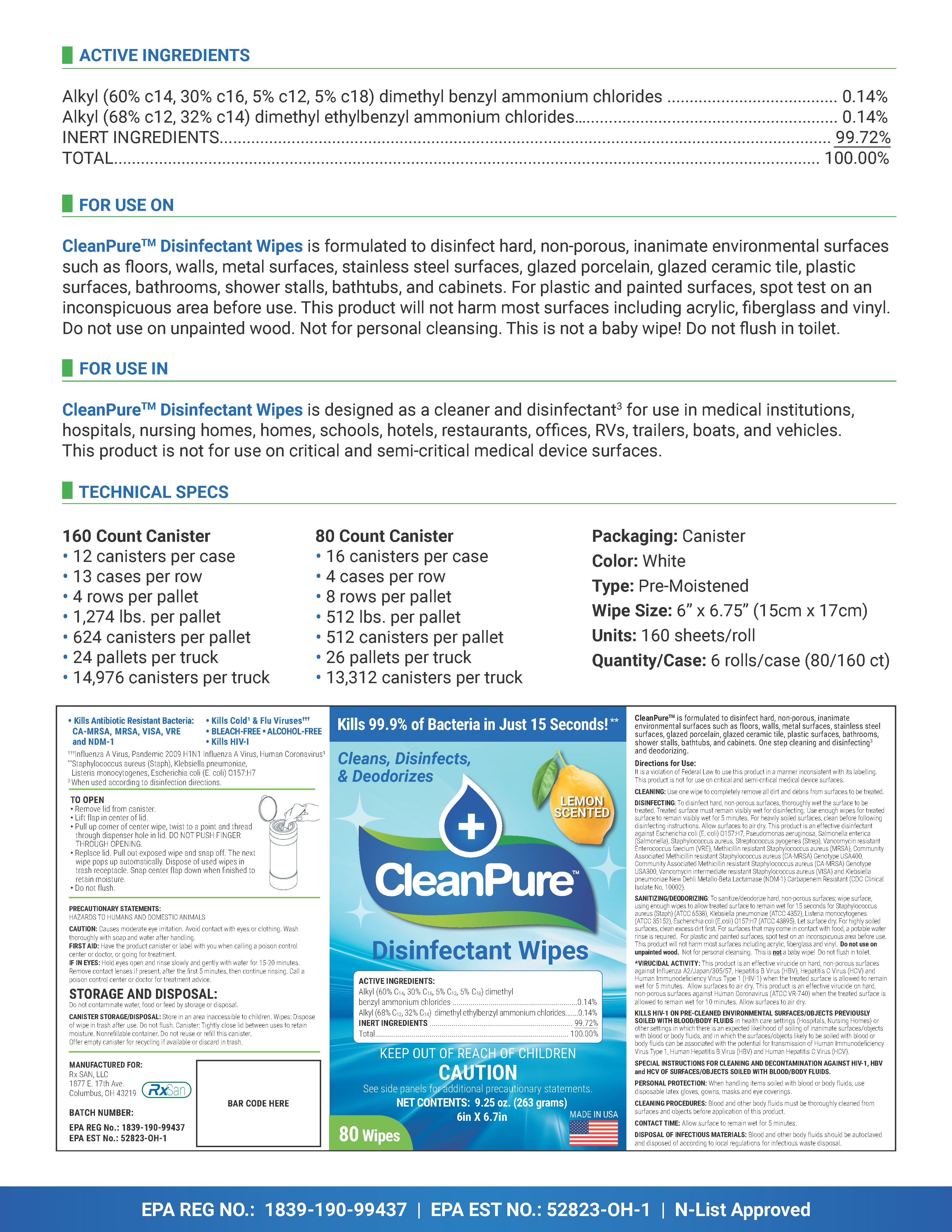 #E3300 RXS - Stat Sheets - CleanPure WIPES 005 Blank 06212021_Page_2